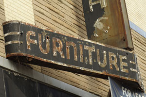 Old Furniture Sign